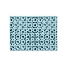 Beach Blue Swirls 5'x7'Area Rug