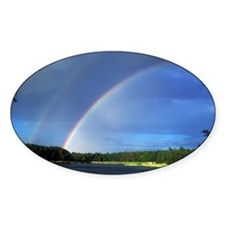 Double rainbow over a lake - Decal