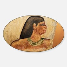 Egyptian Tomb bas-relief of head - Sticker (Oval)