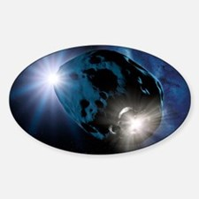 Impact on an asteroid, artwork - Decal