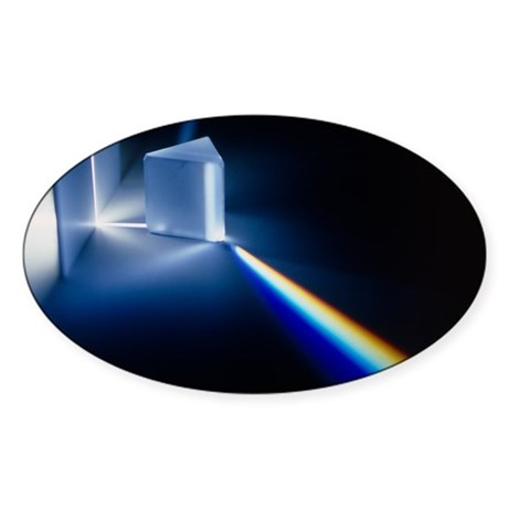 Light passing through prism - Decal by sciencephotos