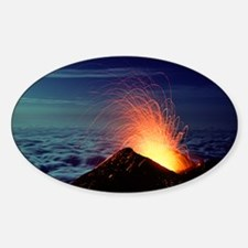 Mount Etna volcano erupting - Sticker (Oval)