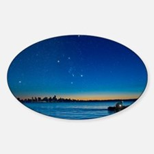 Orion over Vancouver, Canada - Sticker (Oval)