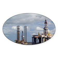 Oil drilling rigs, North Sea - Decal