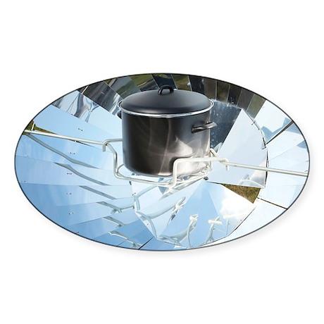 Parabolic solar cooker - Sticker (Oval)