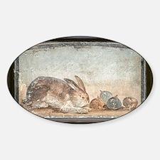 Rabbit and figs, Roman fresco - Decal