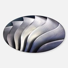 S-curve fan blades - Sticker (Oval)