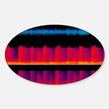 Sound waves, artwork - Sticker (Oval)
