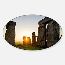 Stonehenge at sunrise - Sticker (Oval)