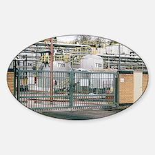 Total Bitumen plant, UK - Sticker (Oval)