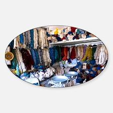 Wool shop, Iran - Sticker (Oval)