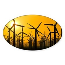 Wind turbines at sunset - Decal