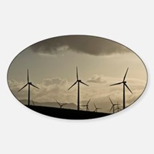 Wind turbines, California - Decal
