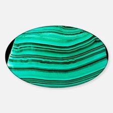 A polished slab of malachite - Decal