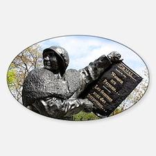 Women's rights statue, Canada - Sticker (Oval)