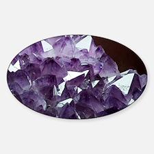 Amethyst crystals - Sticker (Oval)