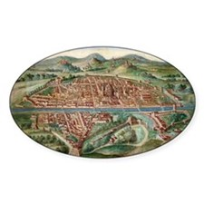 16th Century Plan of Florence - Decal