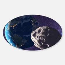 Asteroid approaching Earth - Decal