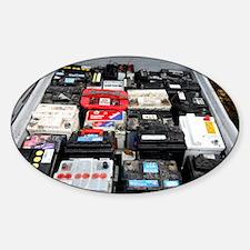 Car battery disposal - Decal