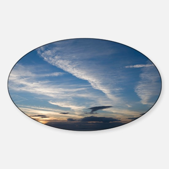Clouds at dusk - Sticker (Oval)
