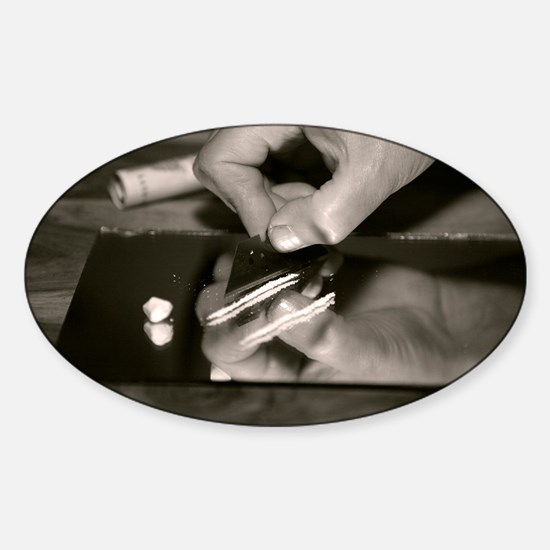 Cocaine use - Sticker (Oval)