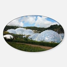 Eden Project biomes - Sticker (Oval)