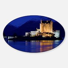 Eilean Donan castle - Sticker (Oval)