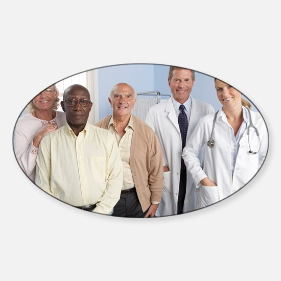 Elderly patients - Sticker (Oval)