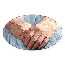 Elderly woman's hands - Decal