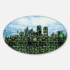 Digital city, computer artwork - Decal