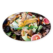Food waste on compost heap - Decal