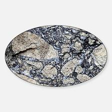Gneiss and sphalerite breccia - Sticker (Oval)