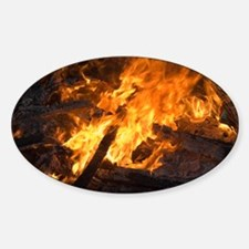 Flames from a bonfire - Decal