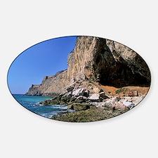 Gorham Cave, Gibraltar - Sticker (Oval)