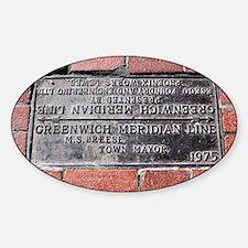 Greenwich Meridian marker - Decal
