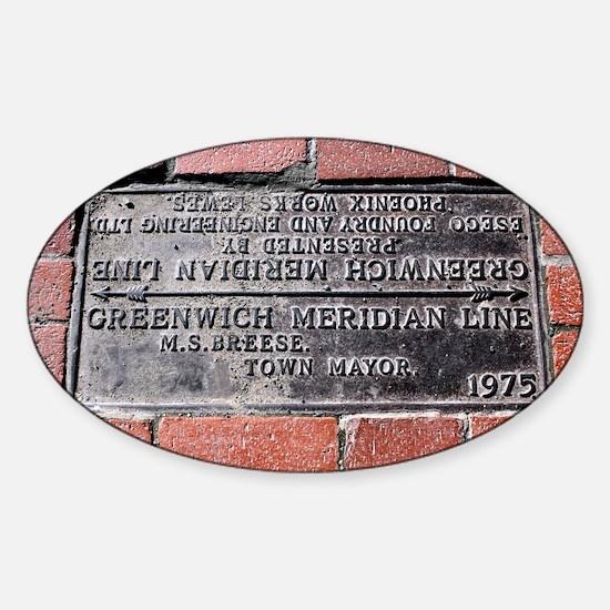 Greenwich Meridian marker - Sticker (Oval)