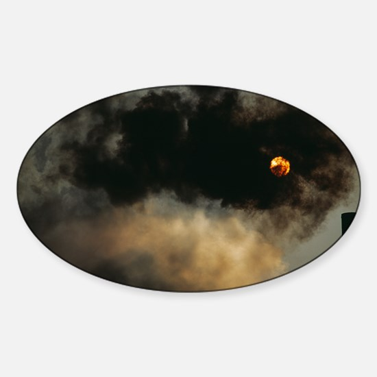 Industrial air pollution - Sticker (Oval)
