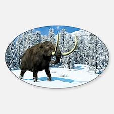 Mammoth, artwork - Sticker (Oval)