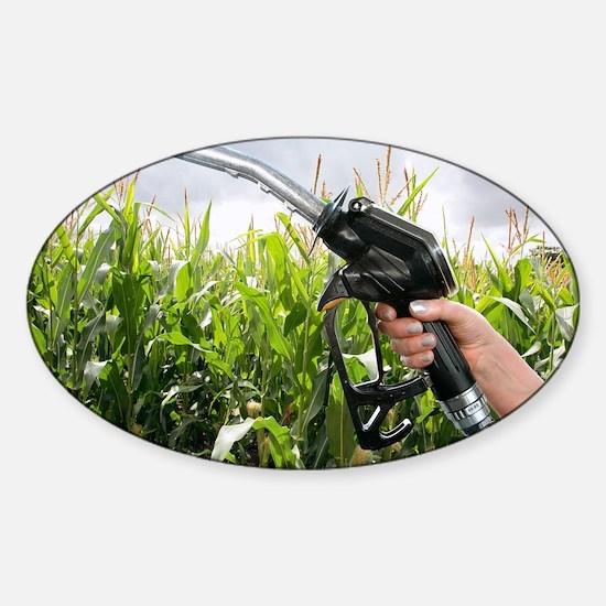 Maize biofuel, conceptual image - Sticker (Oval)