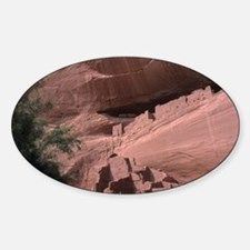 Native American ruins - Sticker (Oval)