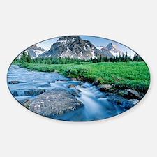 Mount Assiniboine - Sticker (Oval)