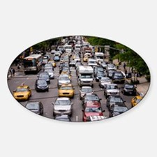 New York City traffic - Sticker (Oval)