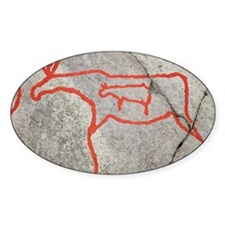 Prehistoric rock petroglyph - Decal