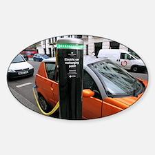 Recharging an electric car - Decal