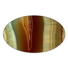 Polished slice of agate - Decal