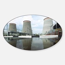 Thermal power station - Sticker (Oval)