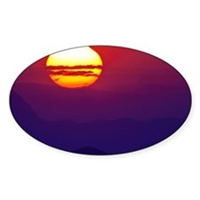 Sunset over mountains - Decal