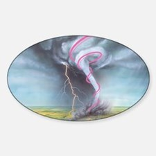 Tornado dynamics - Sticker (Oval)