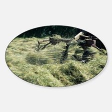 Turning grass - Sticker (Oval)