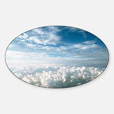 cumulus clouds - Sticker (Oval)